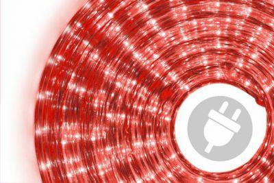 Wąż świetlny ogrodowy 20 m czerwony - 720 mini żarówek
