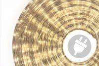 Kabel świetlny 10 m - ciepły biały, 360 mikro żarówek