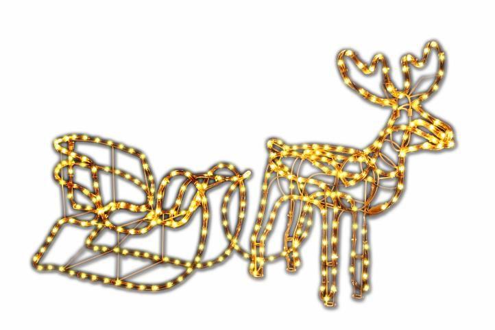 Świecący Świąteczny renifer - dekoracja oświetleniowa