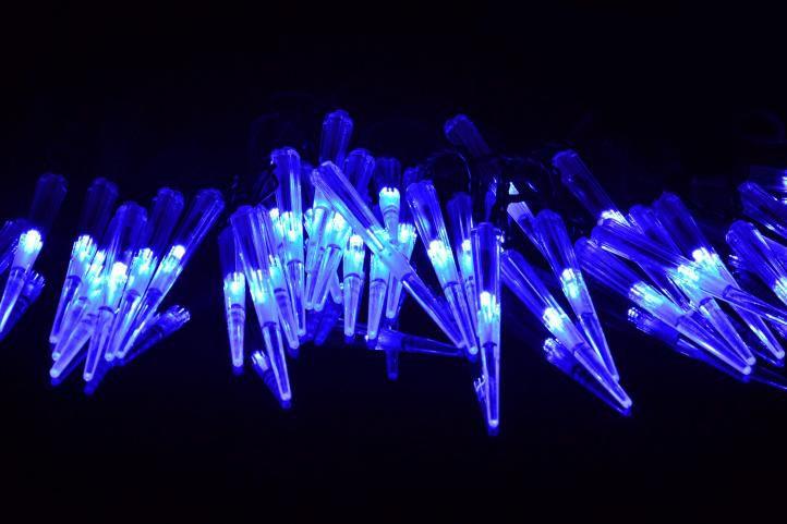 Świąteczne ozdobne sople, 60 diod LED, niebieski