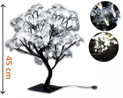 Dekoracyjne oświetlenie LED - drzewo z kwiatami, zimny biały