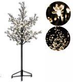 Dekoracyjne oświetlenie LED - drzewo z kwiatami 150 cm, ciepły biały