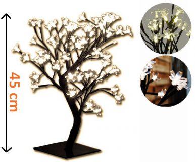 DekoracyjneLED oświetlenie - drzewo z kwiatami, barwa ciepła biała