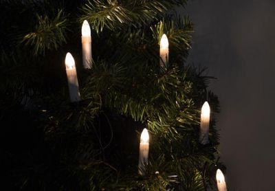 Świąteczne świece z 30 LED diodami