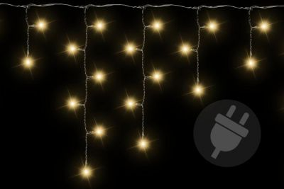 Świąteczny świetlny deszcz - 5 m, 144 LED, ciepła biel