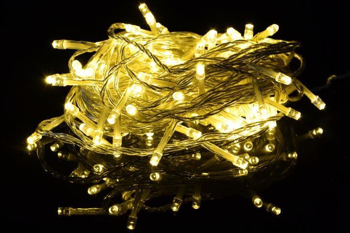 Świąteczny LED łańcuch - 10 m, 100 diod, ciepła biel