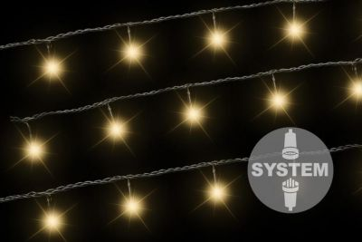 Diled łańcuch oświetleniowy - 40 LED ciepły biały