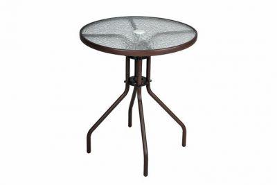 Bistro stół ze szklanym blatem