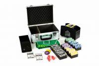 Pokerowy zestaw DELUXE 300 żetonów w walizce z akcesoriami