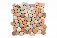 Mozaika z naturalnych kamieni ozdobnych Garth na siatce 1 mata