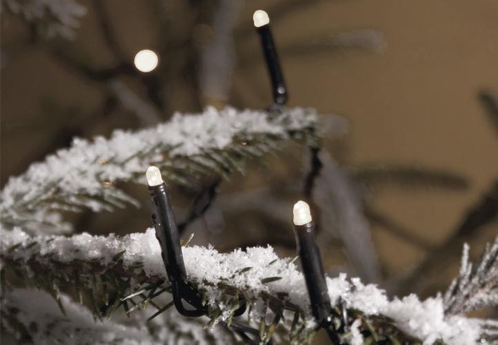 Lampki świąteczne LED białe - Światełka 400 diod