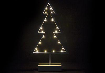 Choinka świąteczna 20 LED ciepła biel 38 cm