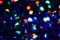 Lampki świąteczne 100 MAXI LED kolorowe zewnętrzne - 10m