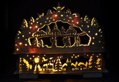 Świąteczna dekoracja – Bożonarodzeniowa sceneria – 10 LED diody