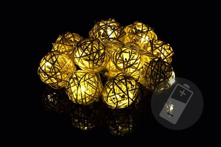 Świąteczna dekoracja - 10 szt świecących kul - ciepły biały, 10  LED diod