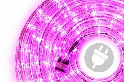LED świetlny kabel - 240 diod, 10 m, różowy
