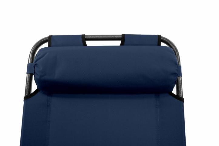 Składany leżak niebieski
