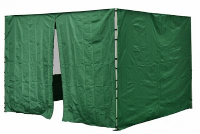 Komplet dwóch ścian do pawilonu PROFI 3 x 3 m - zielony