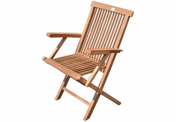 DIVERO Zestaw 4 składanych krzeseł ogrodowych z drewna tekowego