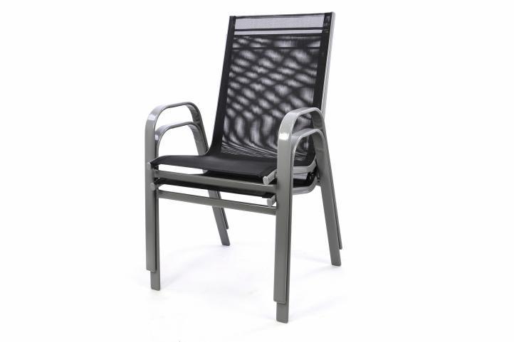 Krzesło ogrodowe antracytowe