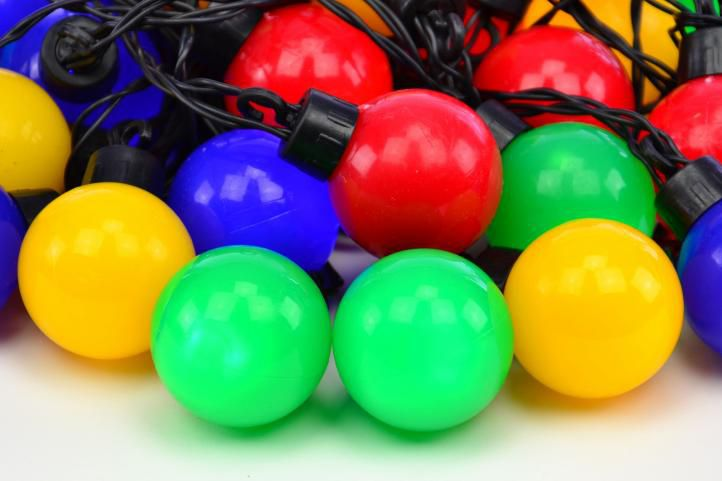 Oświetlenie - łańcuch party 40 LED kolorowe