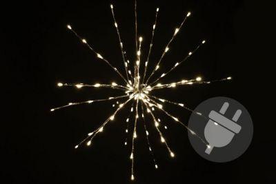 Świąteczne oświetlenie LED – deszcz meteorytów – ciepły biały, 120 LED