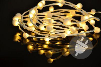 Bożonarodzeniowe LED oświetlenie - płatki śniegu - 48 LED, ciepłe białe