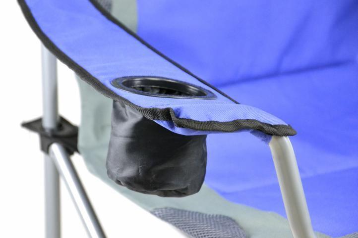 Składane krzesło campingowe wędkarskie Divero Deluxe-granatowo/szare