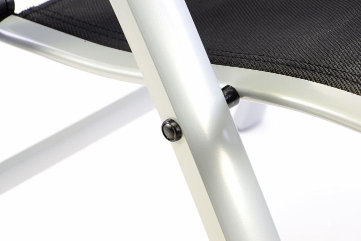 Extra szerokie regulowane krzesło ogrodowe - czarne