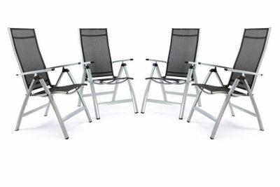Zestaw 4 krzeseł ogrodowych składanych