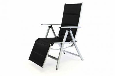 DELUXE krzesło ogrodowe z ustawieniem oparcia z podnóżkiem