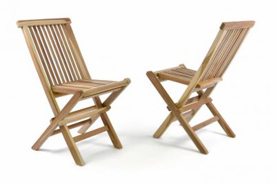 Zestaw 2 drewnianych krzeseł ogrodowych dla dzieci DIVERO