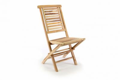 Krzesło ogrodowe DIVERO drewniane składane