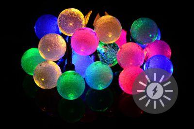 Solarny łańcuch świetlny 20 LED kolorowe - opcja migania