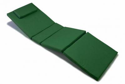 Poduszka na leżak ogrodowy ciemnozielona
