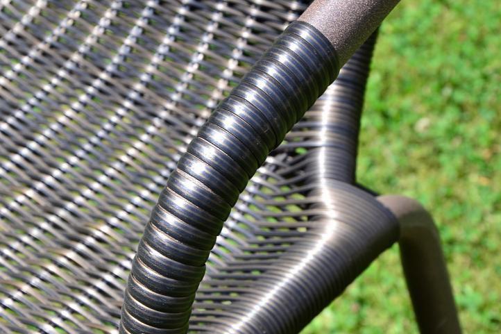 Zestaw mebli ogrodowych, 4 krzesła, szklany stół
