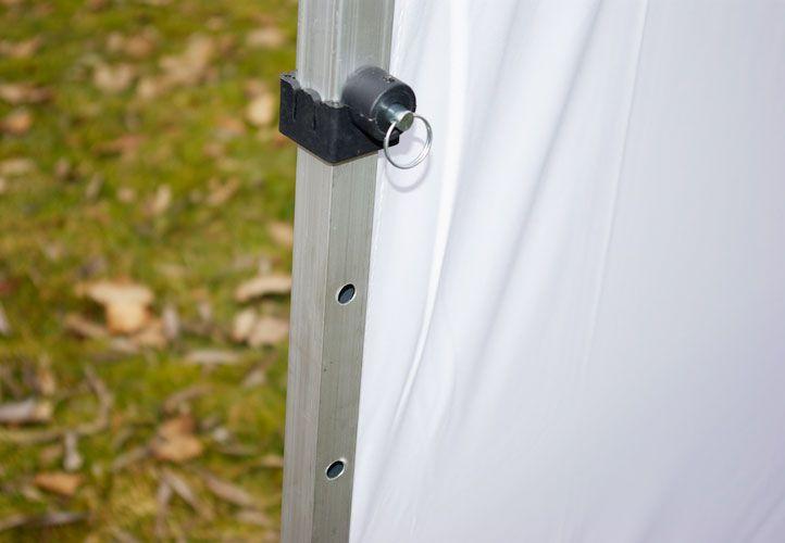 Pawilon ogrodowy Profi rozkładany 3 x 3 m - biały 2 ściany