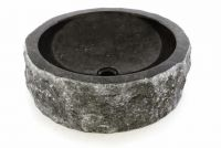 DIVERO umywalka z kamienia naturalnego - czarny marmur