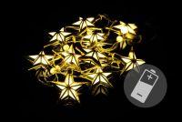 Gwiazdki LED komplet 10 sztuk ciepłe białe