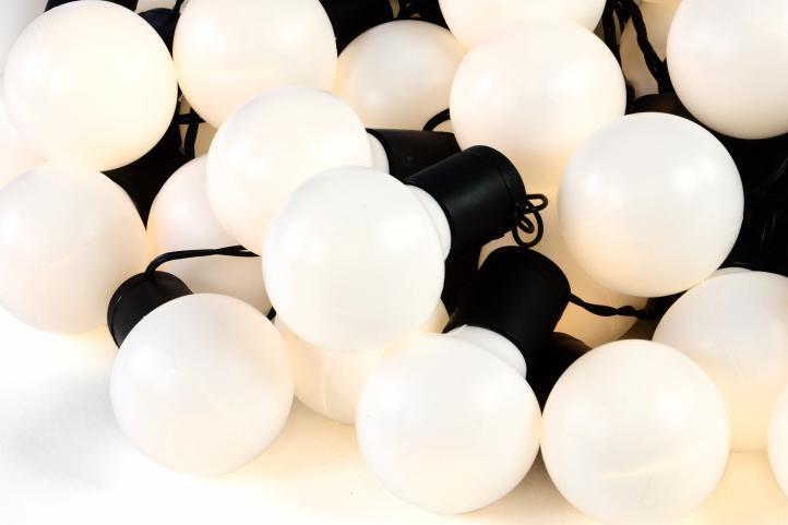 Oświetlenie ogrodowe 50 LED ciepłe białe