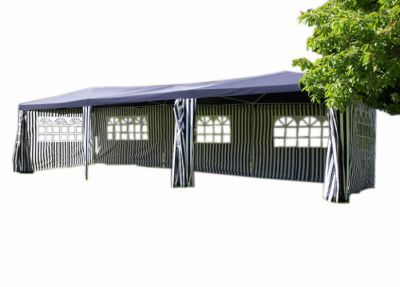 Pawilon ogrodowy niebieski 3 x 9m
