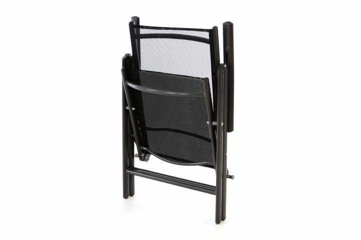 Krzesło aluminiowe ogrodowe - czarne