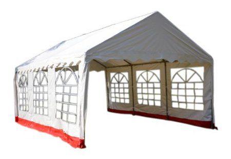 Pawilon ogrodowy 4 x 6m czerwona/biała