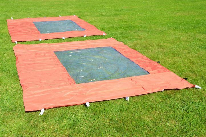Pawilon ogrodowy PROFI rozkładany 3 x 3 m - terakota, 4 ściany