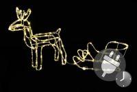 Świecące renifery świąteczne - dekoracja świetlna