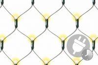 Świąteczne oświetlenie - świecąca sieć 3 x 3 m - ciepła biel z timerem - 128 LED