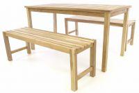 DIVERO zestaw stołowy i ogrodowy - nieimpregnowany tek - 150