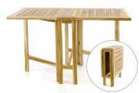 STÓŁ DIVERO - stół tekowy ogrodowy - składany - 130 x 65 cm