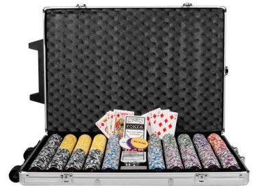 Zestaw do pokera 1000 szt żetonów OCEAN Trolley