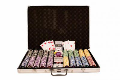 Zestaw do pokera 1000 szt żetonów OCEAN nominał 5 - 1000